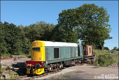 20154 rolls down the 1 in 19 Foxfield bank on 13/07/2008 to collect the first train of the morning from Foxfield Colliery.