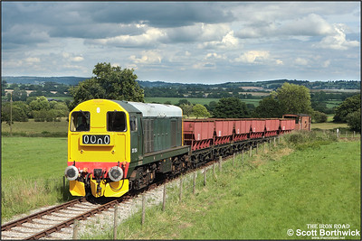 20154 tackles Foxfield bank with a train from Foxfield colliery on 13/07/2008.
