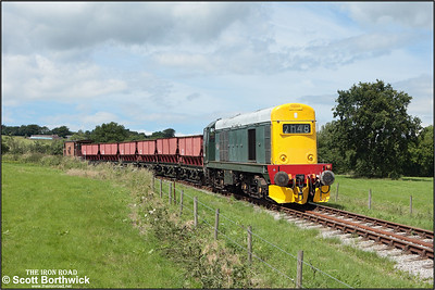 20154 descends Foxfield bank with another rake of empties for reloading at Foxfield Colliery on 13/07/2208.