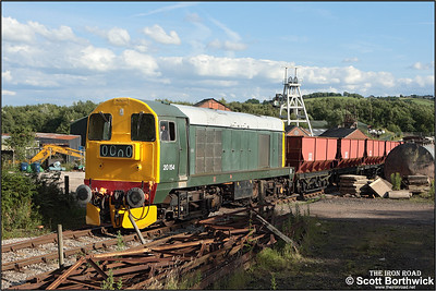 20154 departs from Foxfield colliery on 13/07/2008.