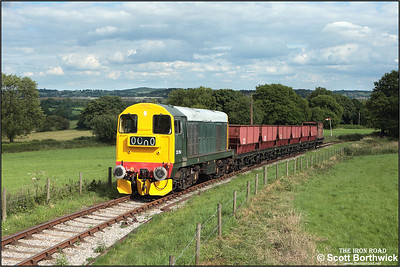 20154 is pictured tackling the fearsome 1 in 19 Foxfield bank shortly after departing from Foxfield colliery on 13/07/2008.