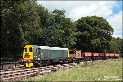 20154 runs through the loop at Dilhorne Park after tackling the fearsome 1 in 19 Foxfield bank on 13/07/2008.