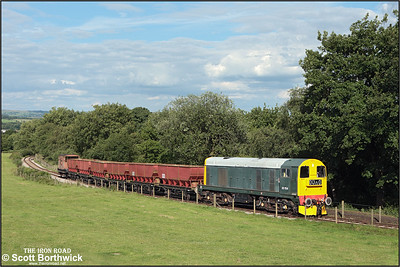 20154 nears the summit of Foxfield bank at Dilhorne Park on 13/07/2008.