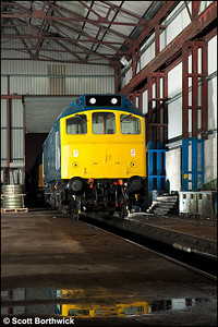 25321 stands inside the shed at Swanwick on 12/12/2009.