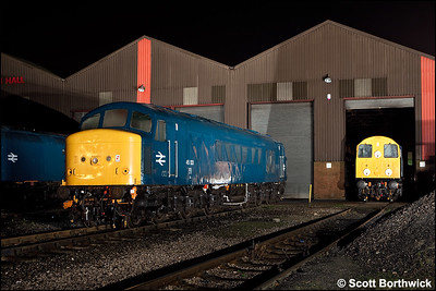 45133 and 20048 await their next duties at Swanwick TMD at half past midnight on 13/12/2009.