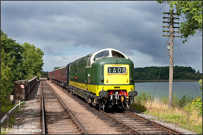 D9009 'Alycidon' comes off Swithland Viaduct on16/09/2010.