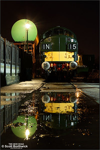 D6729 (37029) rests between duties on North Weald shed on 25/01/2014.