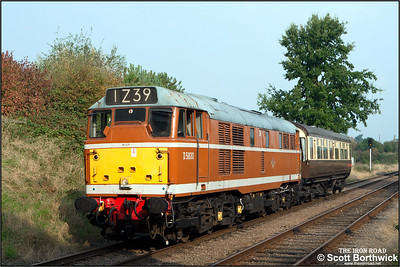 D5830 (31463) propels an inspection saloon at  Woodthorpe on 29/09/2014.