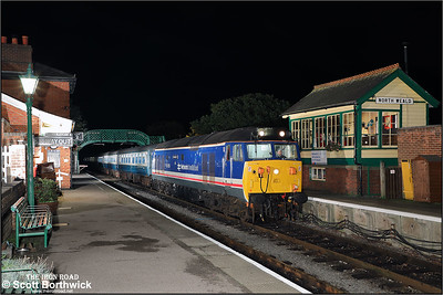 50012 'Indomitable' arrives at North Weald on 20/10/2017 during an EMRPS Photo Charter.