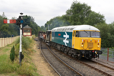 After propelling back off the Fletton branch, 56057 enters Orton Mere on 22/07/2005.