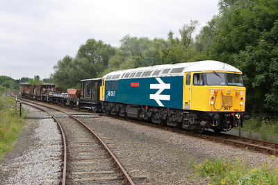 56057 is posed at Longueville Jnct on 22/07/2005.