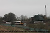 Class 66 Diesel Locomotive number 66 067 passes Worting Junction with 1350 light engine Eastleigh East Yard to Didcot.  Class 444 5 Car Desiro EMU Set number 444 033 passes with 1W27 1335 London Waterloo to Weymouth.<br /> 10th March 2017