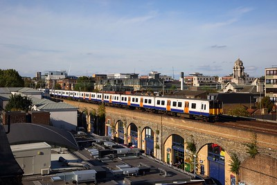 315814+TFL 315858 on the 2U59 1622 Enfield Town to London Liverpool Street at Cambridge Heath on the 15th September 2019