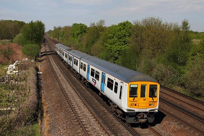 319214 on the 2B21 1012 London Blackfriars to Sevenoaks at Swanley on the 8th May 2016