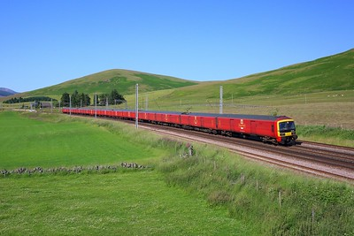 325001 leading 325009 and 325007 on 1M44 Shieldmuir to Warrington at Abington on 15 July 2021  Class325, WCMLScotland, ClydeValley, DBCargo