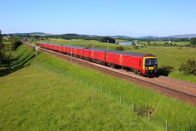 325007 leading 325014 working 1M03 Shieldmuir to Warrington at Hardington Mains on 29 June 2021  Class325, RoyalMail, ClydeValley, WCMLScotland