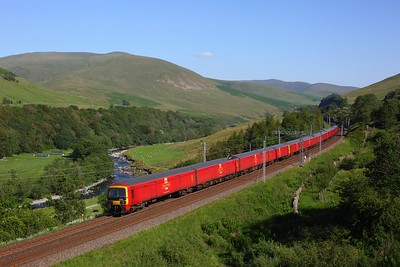 325007 trails two 325 Royal Mail units working 1M44 1M44 1620 Shieldmuir to Warrington in the Lune Gorge, Tebay on 25 June 2020  Class325, RoyalMail, WCML