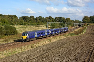 334024 working 2H11 1407 Edinburgh to Helensburgh Central near Easterhouse, at Manse Road, Bargeddie on 2 October 2020  Class334, Scotrail, NorthClydeline