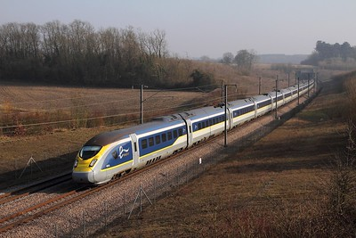 374010+374009 on the 9O31 1313 Paris Nord to St Pancras at Boarley Lane, Maidstone on the 13th February 2017