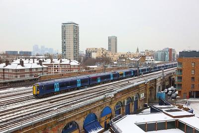 375628+375303+375918 on the 2W14 1428 Ashford International to London Charing Cross arriving London Bridge on the 1st March 2018