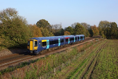 375304 working 2T36 1304 Strood to Tonbridge at Tudeley on 7 November 2020  Class375, Southeastern, SouthEasternmainline