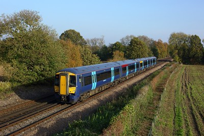 375616 powering the 1W17 1308 Ashford International to Tonbridge at Tudeley on 7 November 2020  Class375, Southeastern, Southeasternmainline
