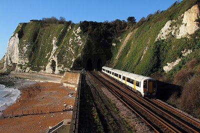 375629 on the 2R18 London Charing Cross to Dover Priory on the 4th December 2015