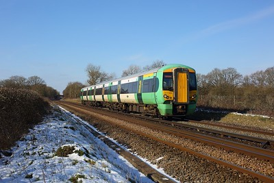 377326 working 2A24 1100 Redhill to Tonbridge at Crowhurst on 12 February 2021  Class377, Southern, RedhillTonbridgeLine