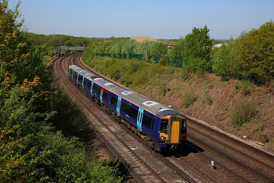 377510 on the 2N28 1052 London Victoria to Ashford International at Swanley on the 5th May 2018
