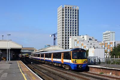 378206 working 2L43 1030 Clapham junction to Stratford, 378139 on 9H21, 458504,503 on 2V17 at Clapham junction on 10 Sep 2020