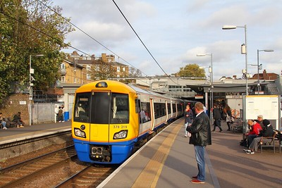378219 at Highbury & Islington with the 2N77 1515 Stratford to Richmond on the 24th October 2017