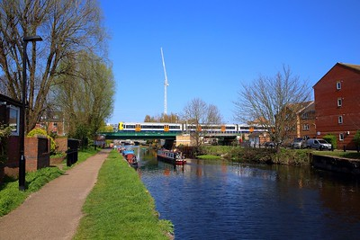 378232 on the 2J45 1150 Gospel Oak to Barking crosses the River Lea at South Tottenham on the 1st April 2019