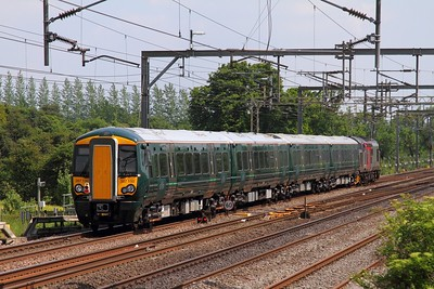 387150+37800 on the 5X74 Bletchley to Reading EMUD at Bourne End on the 25th May 2017