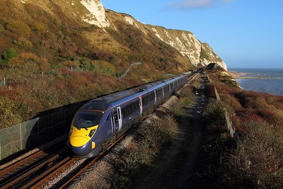 395011 on the 1C26 1125 St Pancras International to St Pancras International via Margate, Ramsgate, Deal, Dover and Folkestone West at Capel le Ferne on the 4th December 2015
