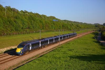 395028 on the 1C42 1525 St Pancras International to St Pancras International at Nashenden crossover on the 6th May 2018