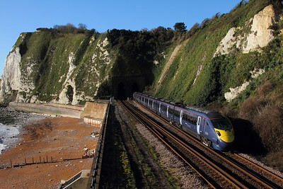 395005 on the 1L20 0937 St Pancras to St Pancras via Folkestone Central, Dover, Ramsgate, Margate at Shakespeare Tunnel on 4th December 2015