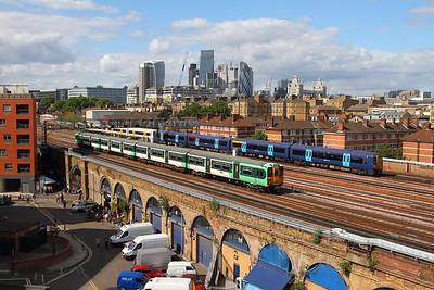 455842 on 1P37 London Bridge to Tattenham Corner and 375xxx+375826 on the 2R46 London Charing Cross to Ramsgate east of London Bridge on the 19th August 2017