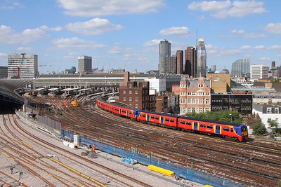 456024+455717 on the 2J45 1627 London Waterloo to Hampton Court departing London Waterloo on the 2nd July 2017