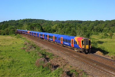 458517 leading 458534 on 2C14 0641 Reading to London Waterloo at Egham on 14 June 2021  Class458, SWR, ReadingWaterlooLine