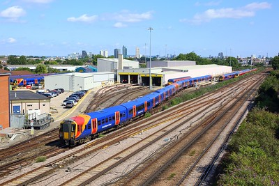458502 and 458531 on 5Y83 1027 London Waterloo to Wimbledon Park Depot Sdgs arriving into Wimbledon Park Depot sidings on 11 August 2021  Class458, SWR, SWML, SWMLLondon