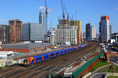 458530+458506 on the 2U35 1258 London Waterloo to Windsor & Eton Riverside at Nine Elms on the 17th February 2018