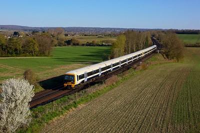 465162 465189 working 2F56 1735 Sevenoaks to London Charing Cross at Polhill, Dunton Green on 16 April 2021  SE, Class465, SouthEasternMainline