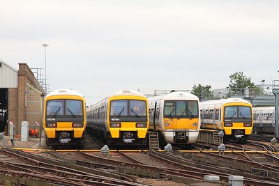 465246+465904+376033+466017 at Slade Green Depot on 15th July 2017