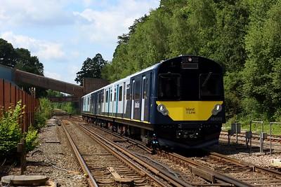 484003 leading 484002 on 5Q24 1343 Fareham to Fareham via Eastleigh South yard at Botley on 14 July 2021  Class484, SWR, EastleighFarehamLine, 484Testing