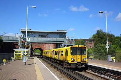 507016 on the 2G56 1534 Ormskirk to Liverpool Central at Kirdale on the 11th June 2018