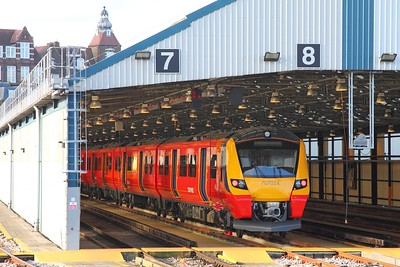 707024 newly arrived at Clapham depot on the 27th February 2018