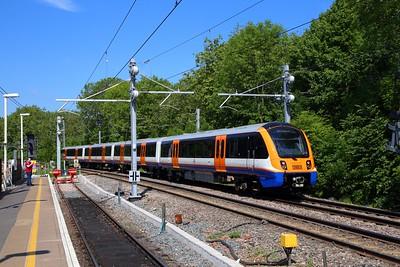 710261 passes Gospel Oak running ECS from Willesden to Gospel Oak via Upper Holloway on the 23rd May 2019