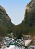 Alder Creek Canyon heading up Alder Creek from Alder-Sespe to Shady Camp, 12/1986.
