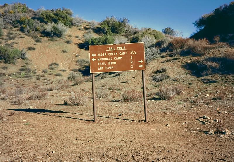 Trail Junction Alder Creek - Agua Blanca Creek routes, 01/1985