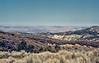 Looking over the Cuyama Valley, somewhere below Santa Barbara Portrero on the Big Pine Buckhorn Fire road, 19 Feb, 1988.